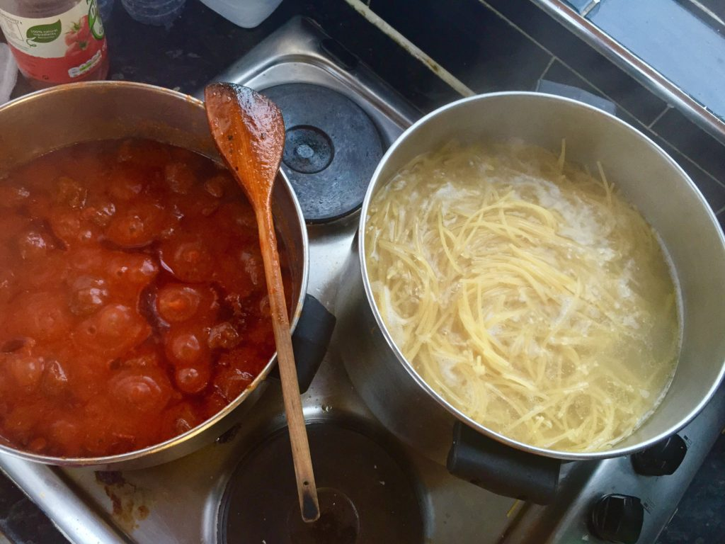 The spaghetti process!