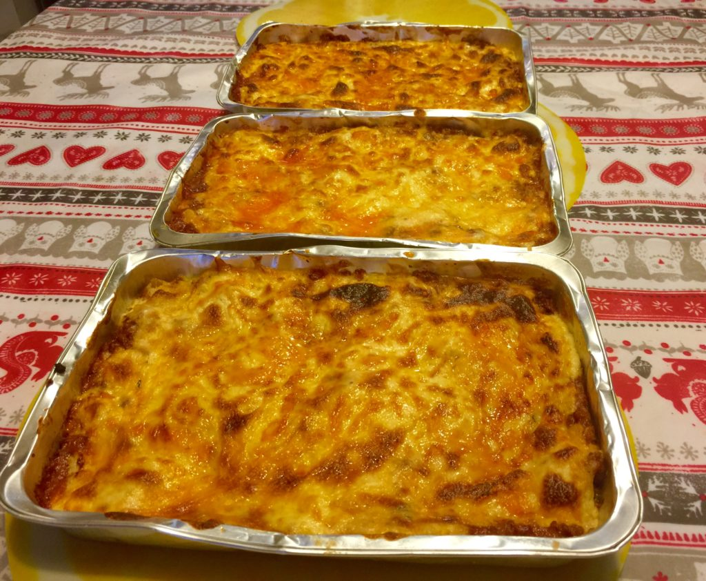 Lasagne result, a little burnt but super lovely!
